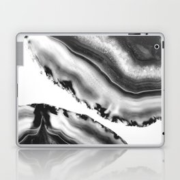Gray Black White Agate #2 #gem #decor #art #society6 Laptop & iPad Skin
