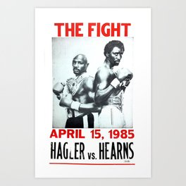 Boxing and Boxers: Hagler vs Hearns Art Print