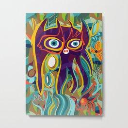 Street Art Purple Spirit of Nature in the Jungle  Metal Print
