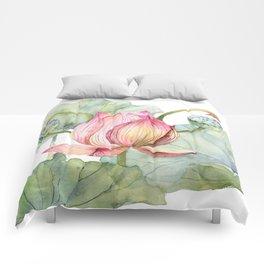 Lotus Metaphor for Feminine Beggining Comforters
