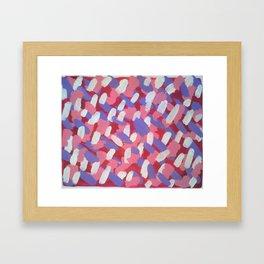 Pink and Purple Brushstrokes Art Framed Art Print