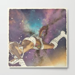 Bodies in Space: Bruising Metal Print