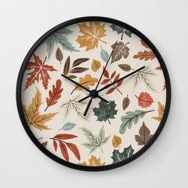 Autumn leaves fall IU Wall Clock