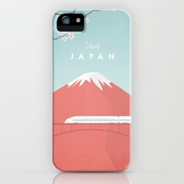 Vintage Japan Travel Poster iPhone Case