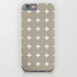 Gray Grey Alabaster Plus iPhone Case