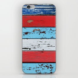 Multicolored Wooden Planks iPhone Skin