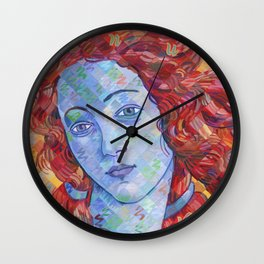 Variations On Botticelli's Venus - No. 3 (Primary Colors) Wall Clock