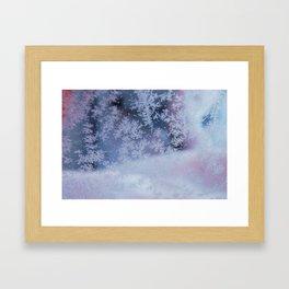 Frozen whispers Framed Art Print