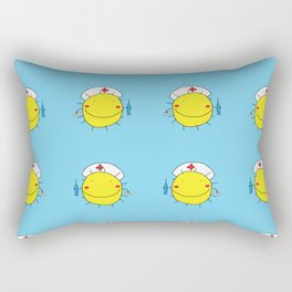 Vector illustration pattern of suns nurses Rectangular Pillow