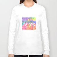 magic the gathering Long Sleeve T-shirts featuring Gathering by Alexandra Duma D.