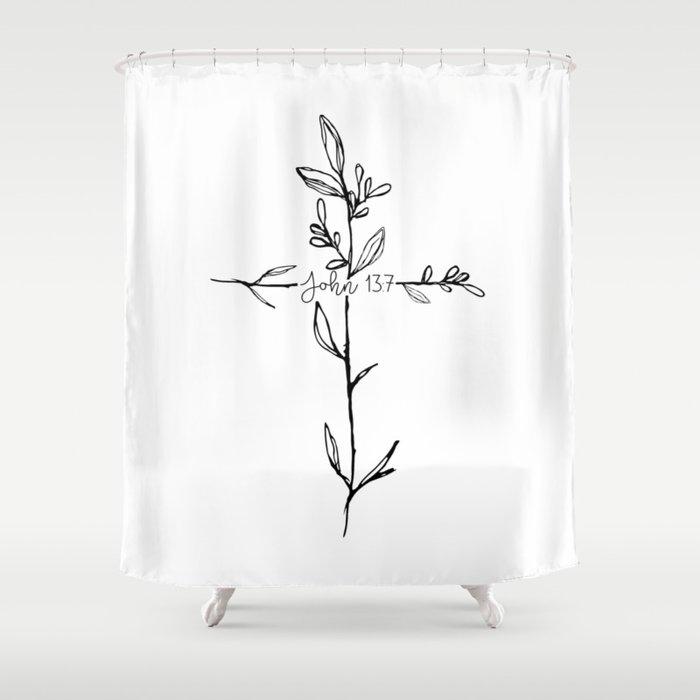 John 13:7 Cross Shower Curtain by movemtns | Society6
