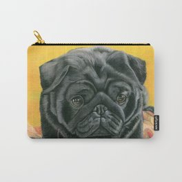 Pug In Leaves Carry-All Pouch