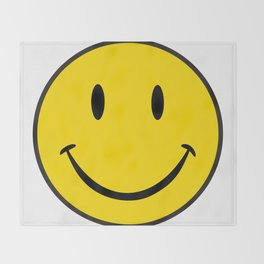 Smiley Happy Face Throw Blanket