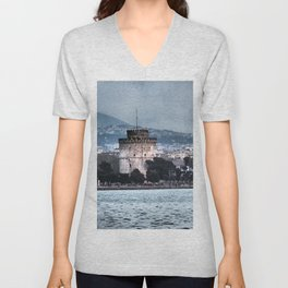 White Tower-Thessaloniki Unisex V-Neck