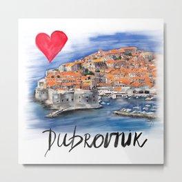 I love Dubrovnik Metal Print