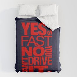 Yes it's fast No you can't drive it v5 HQvector Comforters