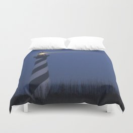 Cape Hatteras at night Duvet Cover