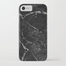 Black Marble Print II iPhone 7 Slim Case