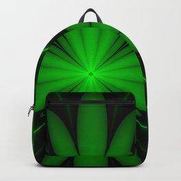 Neon Green Flower Fractal Backpack