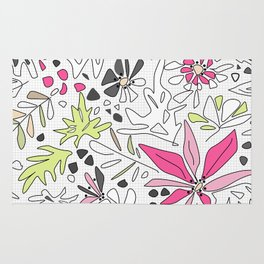 Retro floral pattern Rug