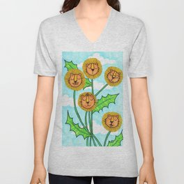 Dandy Lions Unisex V-Neck