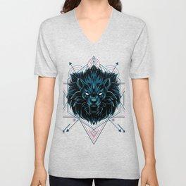 The Wild Lion sacred geometry Unisex V-Neck