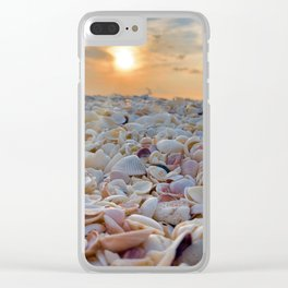 Sunset Shells Clear iPhone Case