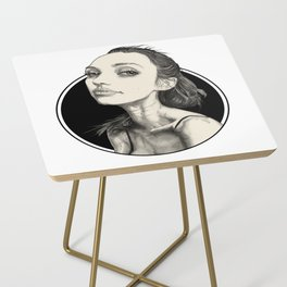 Arina Black Circle Side Table