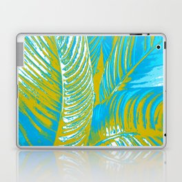 Colorful Leaves Lovely Turquoise #society6 #decor Laptop & iPad Skin