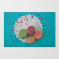 macarons Canvas Prints featuring Macarons by Jessica Torres Photography