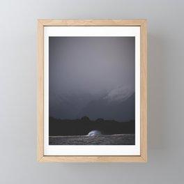 Mountain&wave Framed Mini Art Print
