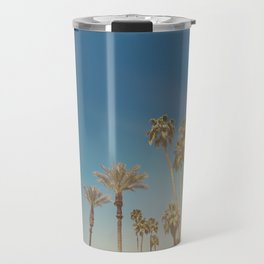 Palm Springs,California Palm Trees Sunburst Travel Mug