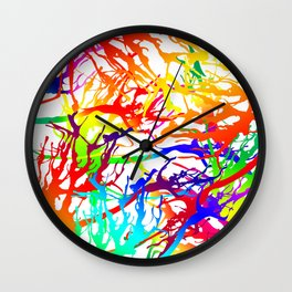 Tickled - white Wall Clock