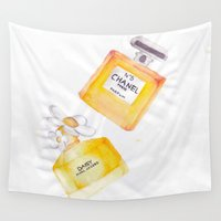 perfume Wall Tapestries featuring Perfume and Sheets  by AshleyRose