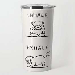 Inhale Exhale English Bulldog Travel Mug