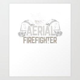 Aerial Firefighter Gift - Fireman Airplane Pilot Art Print