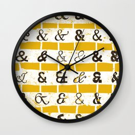 Ampersands Wall Clock