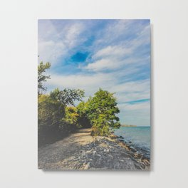 Summer walks by the lake Metal Print