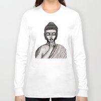 buddha Long Sleeve T-shirts featuring BUDDHA by Vanya