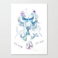 virgo Canvas Prints featuring Virgo by Myev