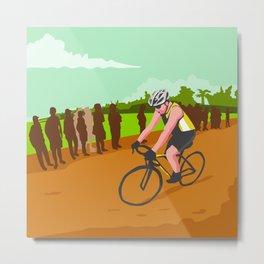 Cyclist Racing WPA Metal Print