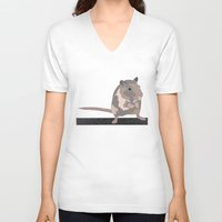 rat V-neck T-shirts featuring Rat by AJVicoso