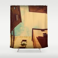 spain Shower Curtains featuring Spain by Emma.B