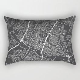 Austin Map, USA - Gray Rectangular Pillow