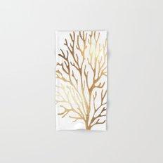 Gold Coral Hand & Bath Towel