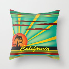 Welcome to California Throw Pillow