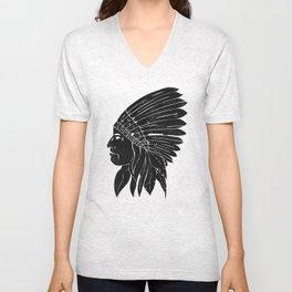 Indian Chief / Black Edition Unisex V-Neck