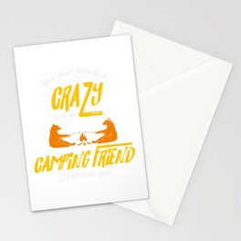 Crazy Camping Friend Camp Fire Bears Marshmellows Stationery Cards