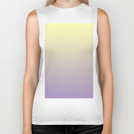 Color gradient 10. yellow and purple or violet. abstraction,abstract,minimalism,plain,ombré Biker Tank