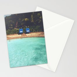 Two Chairs at the Pool Stationery Cards